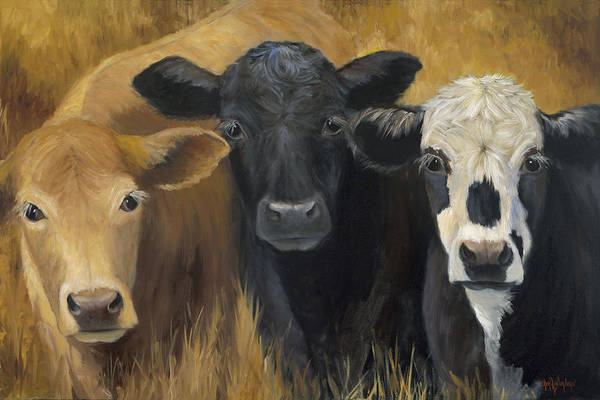 Barnyard Animal Painting - Winken Blinken And Nod by Cheri Wollenberg