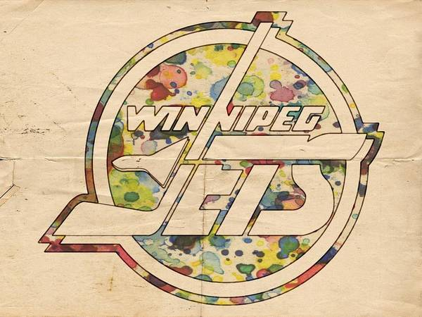 Painting - Winnipeg Jets Hockey Art by Florian Rodarte