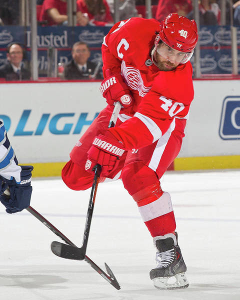 National Hockey League Photograph - Winnipeg Jets V Detroit Red Wings by Dave Reginek