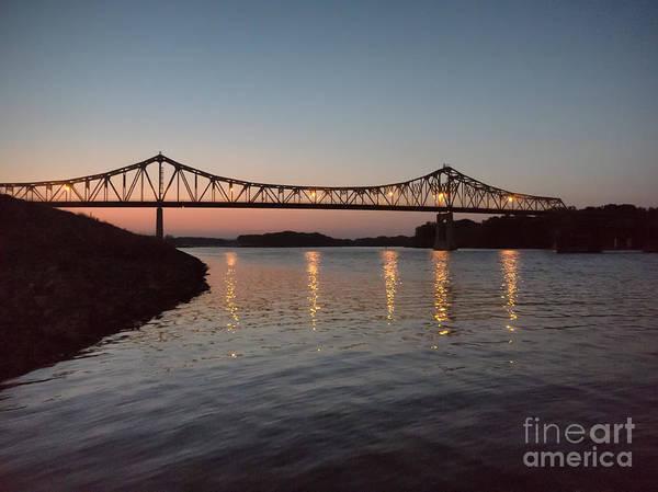 Photograph - Winona Bridge At Sunset by Kari Yearous