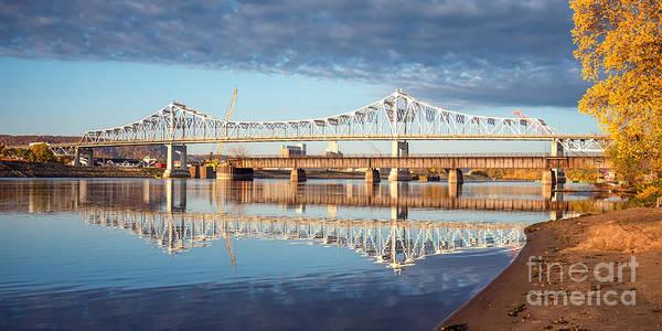 Photograph - Winona Bridge In Fall by Kari Yearous