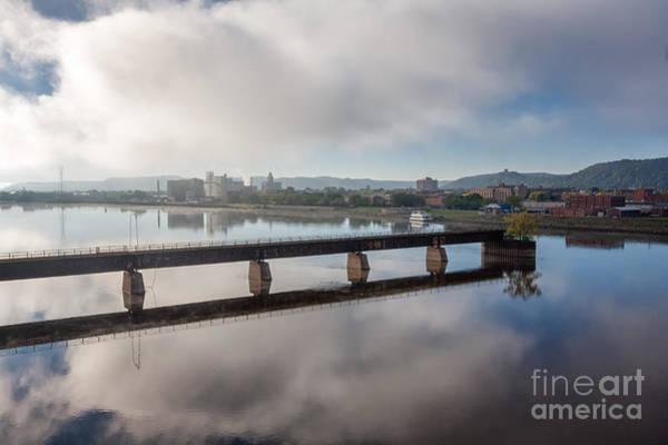 Photograph - Winona Minnesota Foggy Morning by Kari Yearous