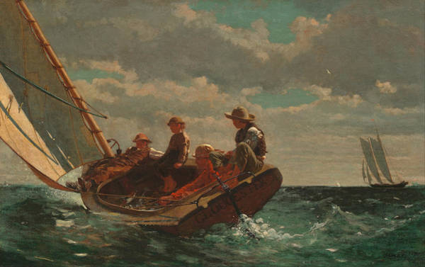 Wall Art - Painting - Winslow Homer Breezing Up by Winslow Homer