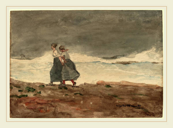 Wall Art - Drawing - Winslow Homer, Danger, American, 1836-1910 by Litz Collection
