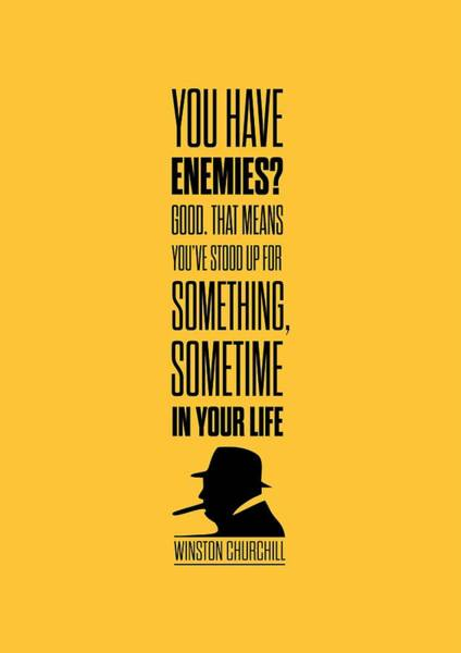 Wall Art - Digital Art - Winston Churchill Inspirational Quotes Poster by Lab No 4 - The Quotography Department