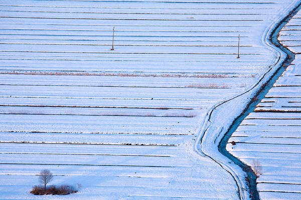 Wall Art - Photograph - Winter Across The Barje by Ian Middleton