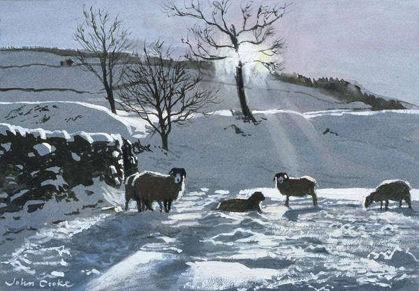 Wall Art - Painting - Winter Afternoon At Dentdale by John Cooke
