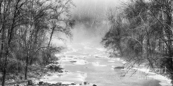 Photograph - Winter Along Cherry River by Thomas R Fletcher