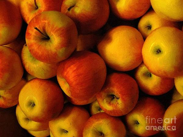 Painting - Winter Apples by RC DeWinter