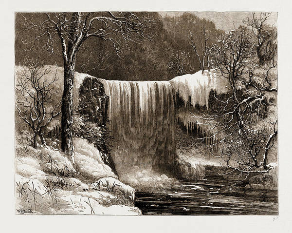 Aspect Wall Art - Drawing - Winter Aspect Of The Falls Of Minnehaha, Minnesota by Litz Collection