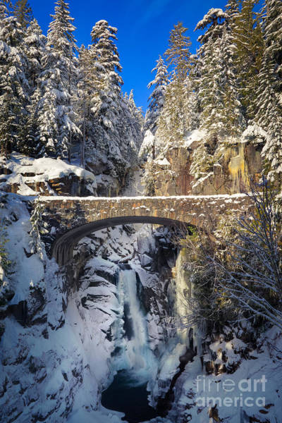 Snowshoe Photograph - Winter At Christine Falls by Inge Johnsson