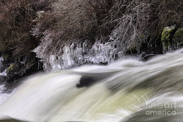 Winter At Dillon Falls Art Print