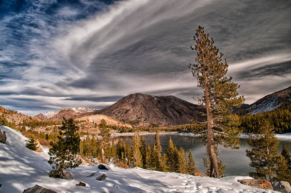 Granite Rock Photograph - Winter At Ellery Lake by Cat Connor