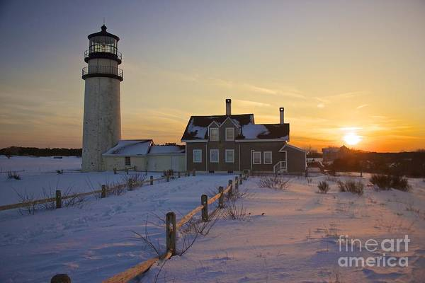 Photograph - Winter At Highland Lighthouse by Amazing Jules