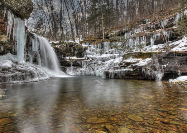 Sullivan County Photograph - Winter At Lewis Falls by Lori Deiter