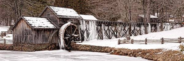 Photograph - Winter At Mabry Mill by Keith Swango