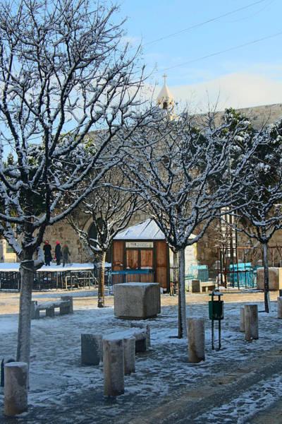 Manger Photograph - Winter At Manger Square by Munir Alawi