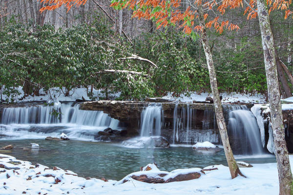 Photograph - Winter At Mash Fork Falls by Mary Almond