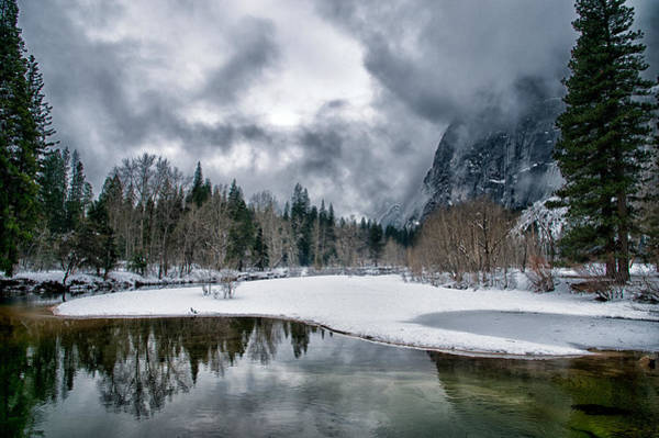 Sierra Nevada Photograph - Winter At Swinging Bridge by Cat Connor