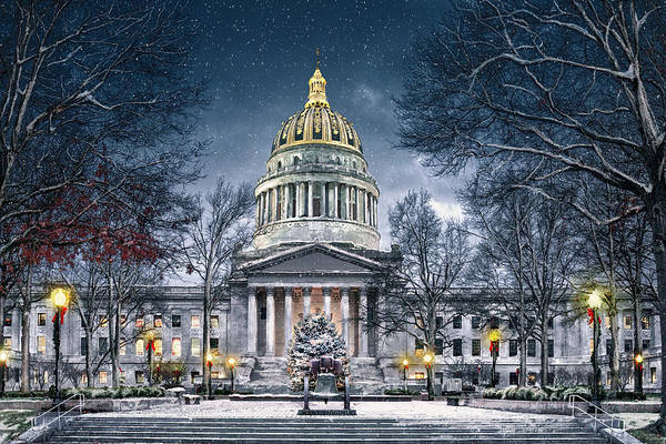 Digital Art - Winter At The Capitol by Mary Almond