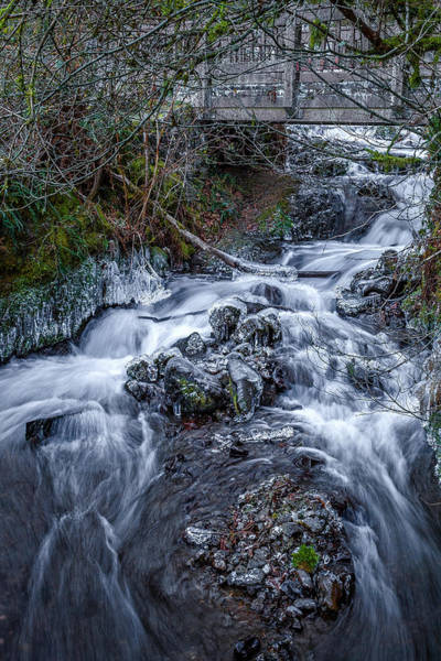 Photograph - Winter At Wahkeena Falls by Wes and Dotty Weber