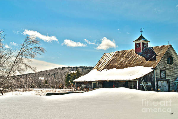 Photograph - Winter Barn by Alana Ranney