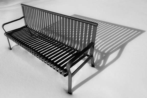 Photograph - Winter Bench by Brad Bellisle
