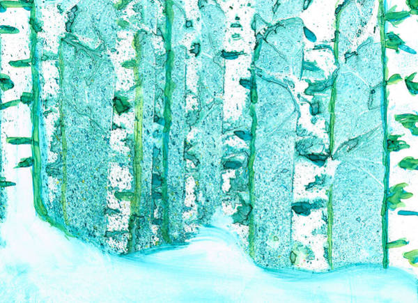 Painting - Winter Birch 2 by Kelly Dallas