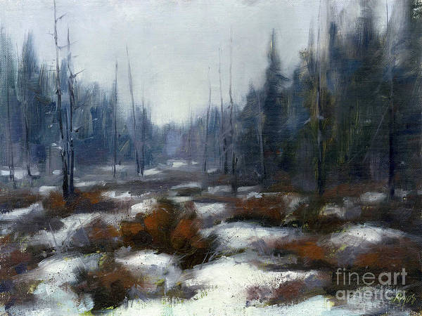 Adirondack Mountains Painting - Winter Bog by Neil Rizos