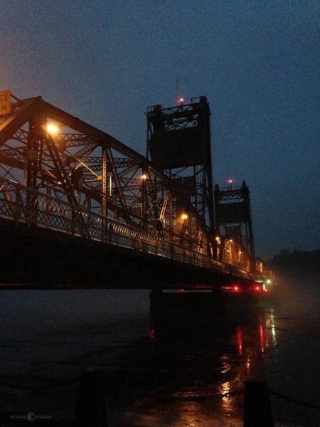 Photograph - Winter Bridge In Fog 2 by Tim Nyberg