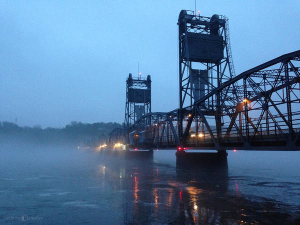 Photograph - Winter Bridge In Fog by Tim Nyberg