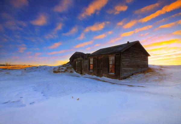 Wall Art - Photograph - Winter Cabin  by Kadek Susanto