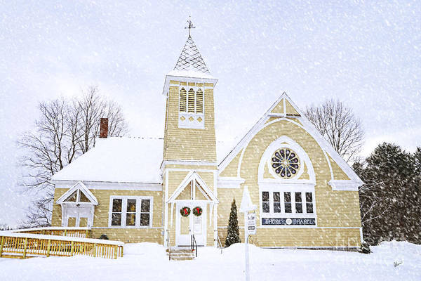 Winter Chapel Art Print