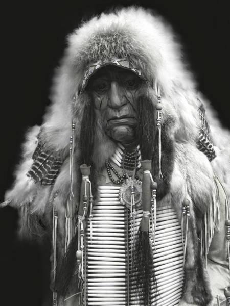 Spokane Digital Art - Winter Chief B W by Daniel Hagerman