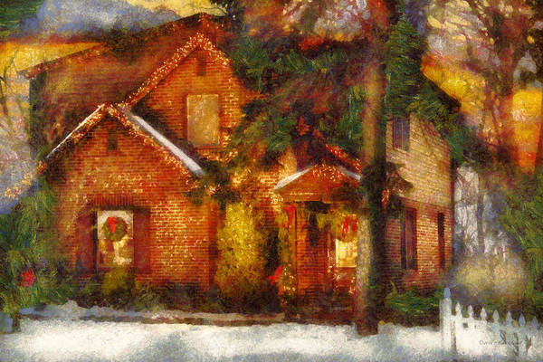 Photograph - Winter - Christmas - The Warmth Of A Gingerbread House by Mike Savad