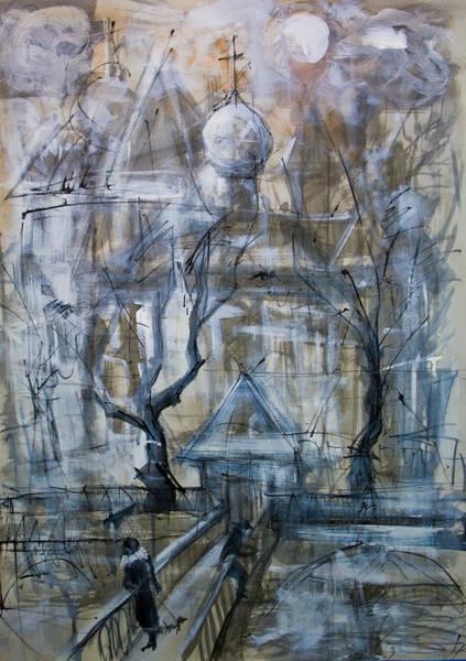 Painting - Winter City by Maxim Komissarchik