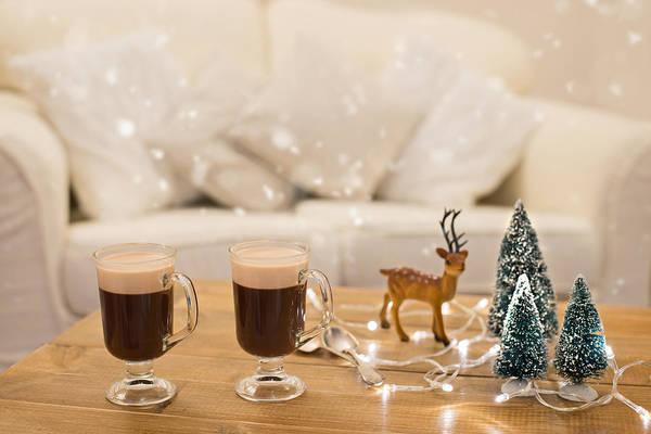 Christmas Lights Photograph - Winter Coffee by Amanda Elwell