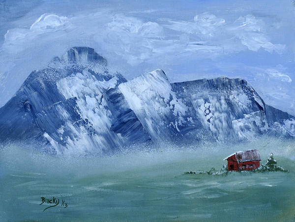 Wall Art - Painting - Winter Comes To The Valley by Donna Blackhall