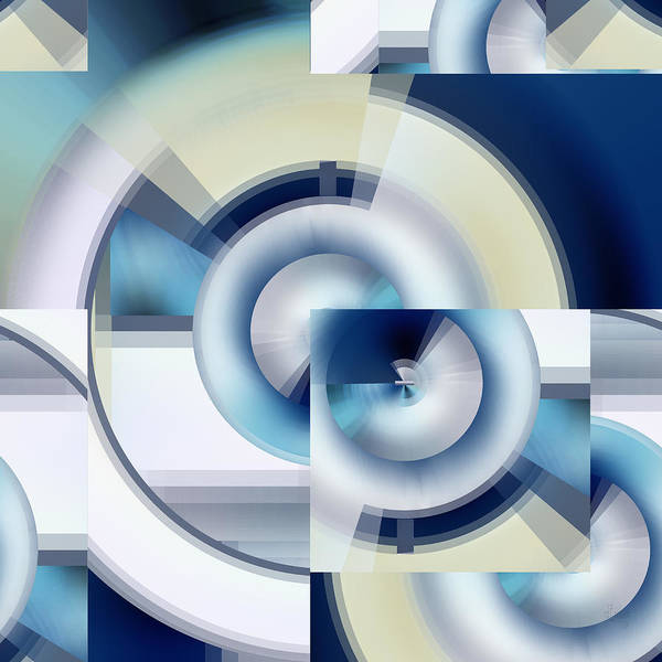 Digital Art - Winter Core - Digital Abstract by rd Erickson