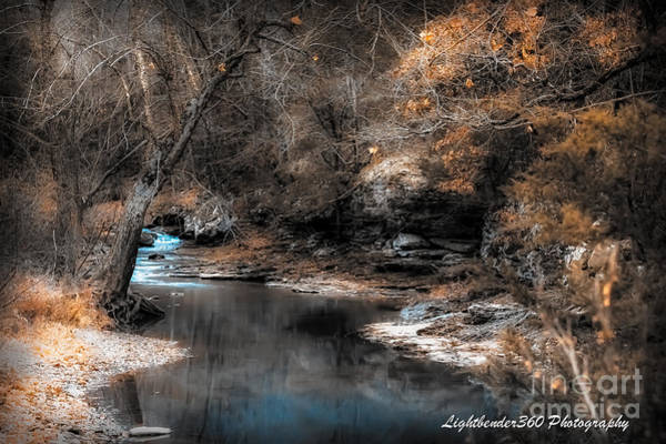 Photograph - Winter Creek by Larry McMahon