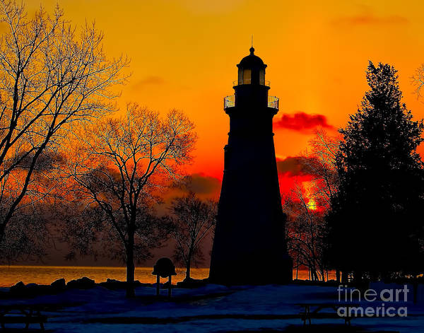 Photograph - Winter Dawn At Marblehead by Nick Zelinsky
