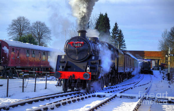 Photograph - Winter Day Departure by David Birchall