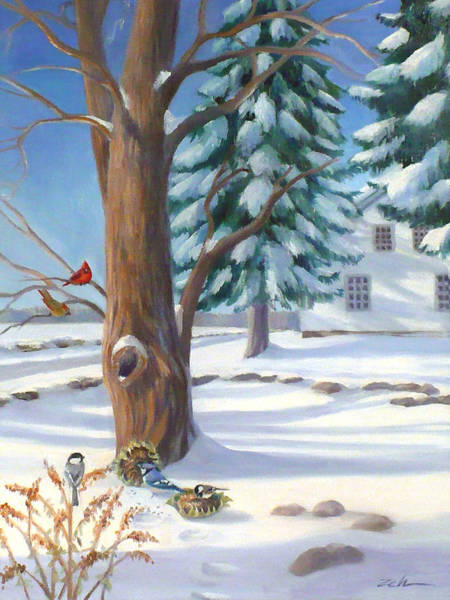 Painting - Winter Day by Janet Zeh