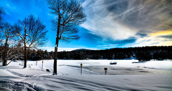Photograph - Winter Day On Old Forge Pond by David Patterson