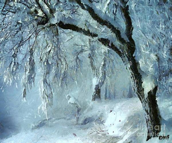 Wall Art - Painting - Winter Dreams by Dragica  Micki Fortuna