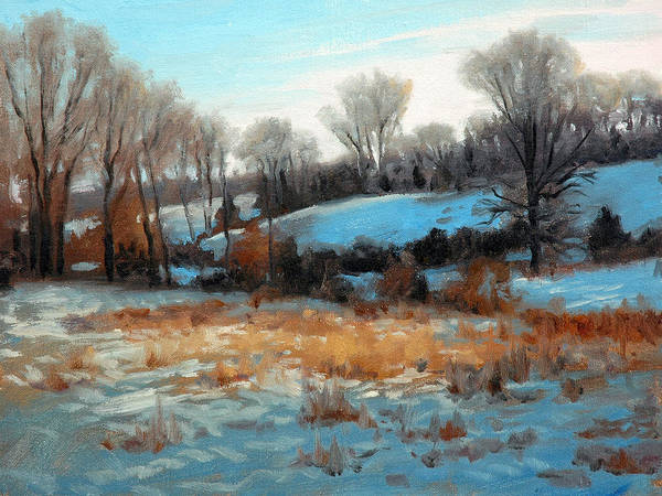 Wall Art - Painting - Winter Evening by Armand Cabrera