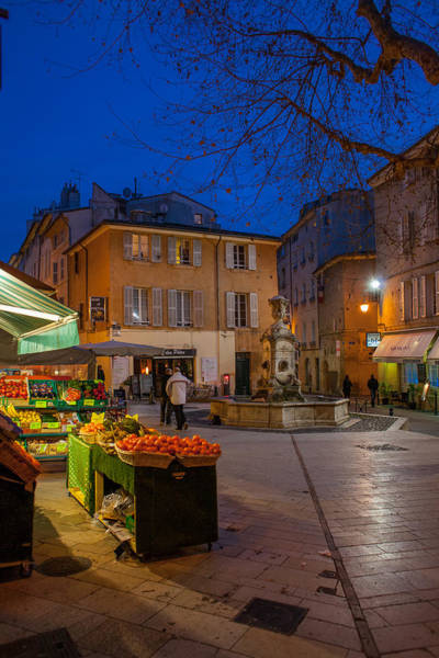 Wall Art - Photograph - Winter Evening In Aix by W Chris Fooshee