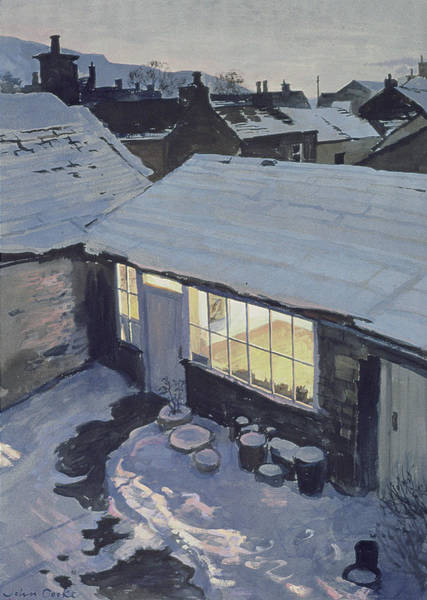 Dent Photograph - Winter Evening - My Studio by John Cooke