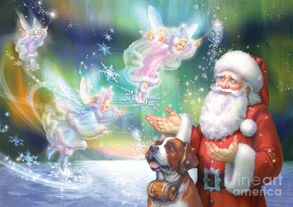 Wall Art - Digital Art - Winter Fairies by MGL Meiklejohn Graphics Licensing