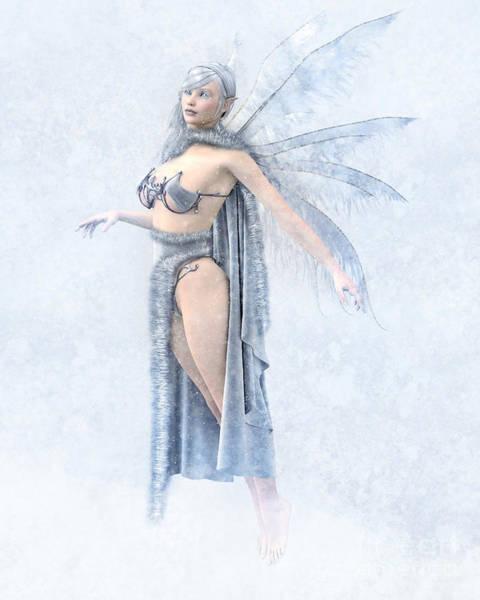 Cloak Digital Art - Winter Fairy by Elle Arden Walby